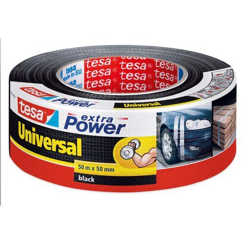 Tesa tape Extra Power Universal zwart 50m x 50mm