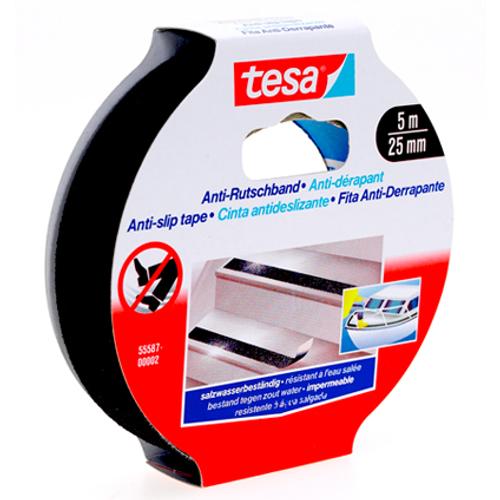 "Tesa kleefband ""Slipvast"" zwart 5mx25mm"