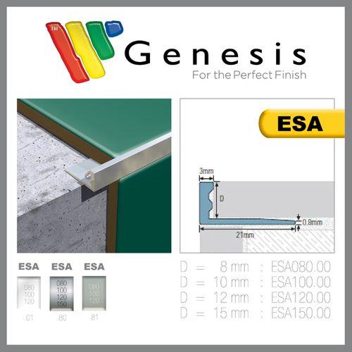 Genesis tegelprofiel aluminium recht 10mm