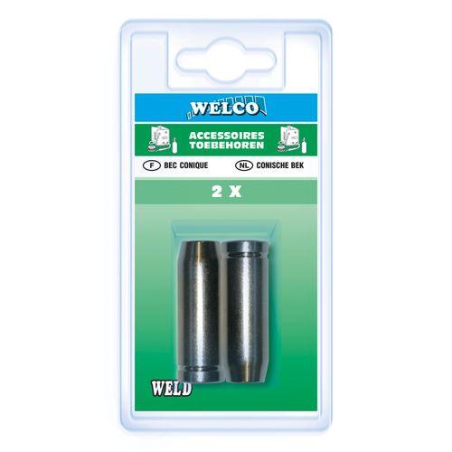 Becs coniques Welco pour semi-automatique 18 mm - 2 pièces