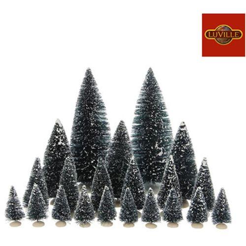 Luville beeldje groene boompjes - 21 stuks