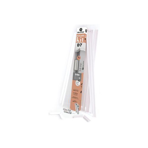 Decoflair sierlijsten kit en lijm 'Roomkit D7' 4 x 4,5 cm x 4 m