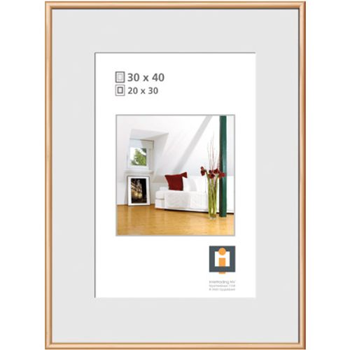 Cadre photo Intertrading doré 30 x 40 cm