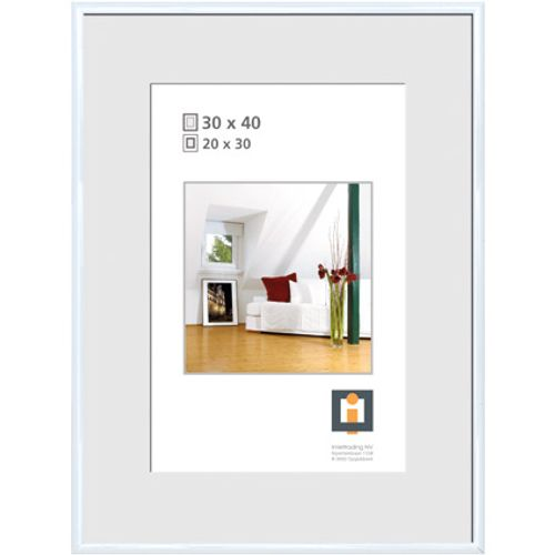 Cadre photo Intertrading blanc 30 x 40 cm