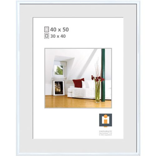 Cadre photo Intertrading blanc 40 x 50 cm