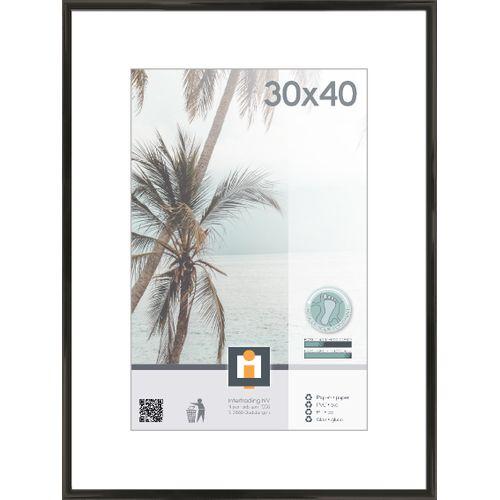 Cadre photo Intertrading noir 30 x 40 cm
