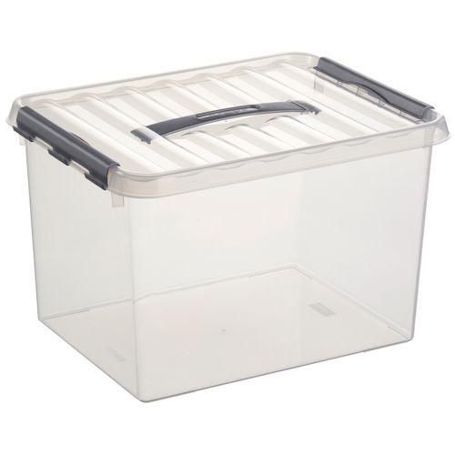 Sunware opbergbox Q-line 22L transparant