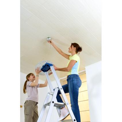 Lambris Dumaplast 'Dumaclip' PVC blanc cérusé 10mm