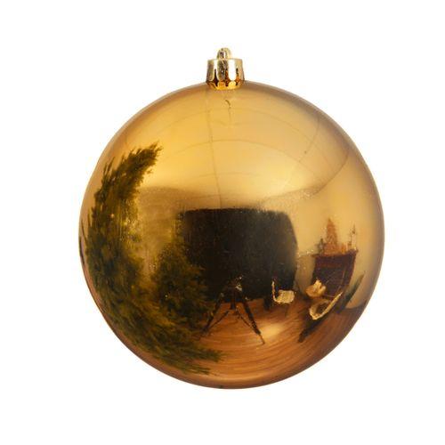 Boule de Noël Decoris plastique or 20cm