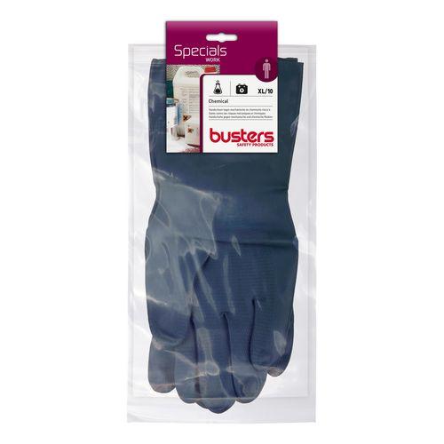 Busters handschoenen Chemical latex zwart M10
