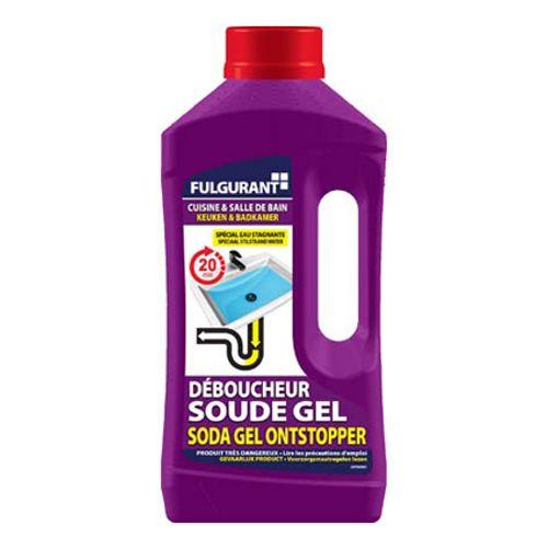 Déboucheur canalisations cuisine et salle de bains Fulgurant gel 900 ml