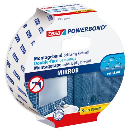 Double face miroirs Tesa 'Powerbond' blanc 5mx38mm