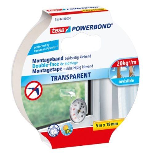 Tape double face Tesa 'Powerbond' transparent 5mx19mm
