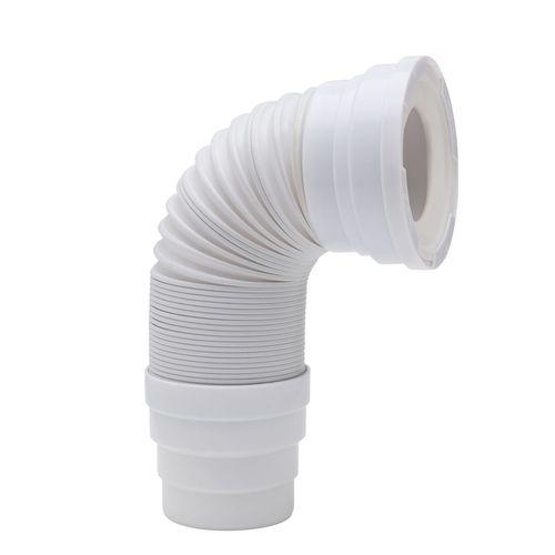Wirquin uittrekbare wc-buis felxibel wit
