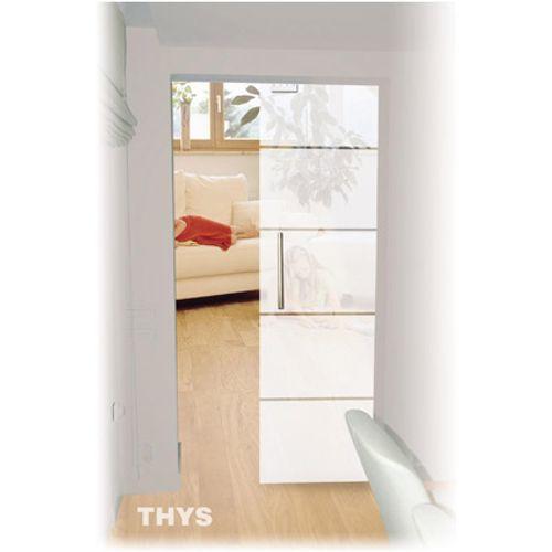 Porte coulissante en verre sécurit Thys 'Thytan Sliding' 1510 215x83cm