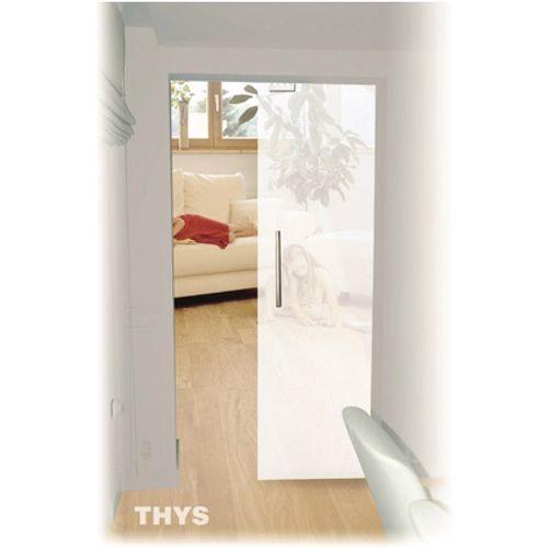 Porte standard coulissante en verre Sécurit Thys 83 cm