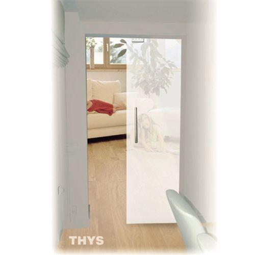 Porte coulissante en verre sécurit Thys 'Thytan' 93cm