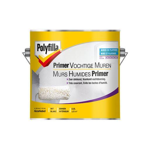 Polyfilla primer vochtige muren wit 2,5L
