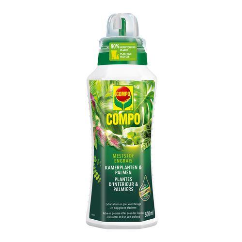 Engrais liquide plantes d'intérieur et palmiers Compo 500ml