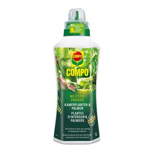 Engrais liquide plantes d'intérieur et palmiers Compo 1L