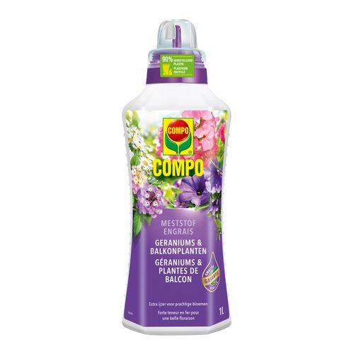 Engrais liquide géraniums et plantes de balcon Compo 1L