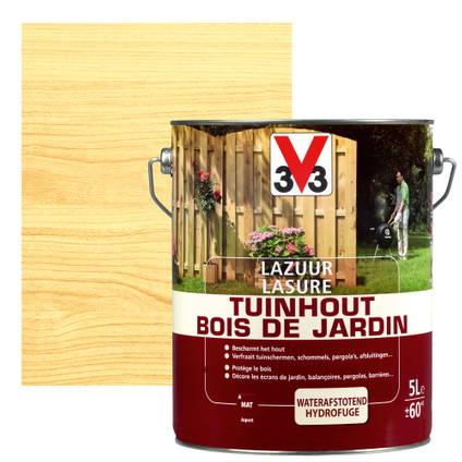 Lasure bois de jardin V33 inColore mat 5L