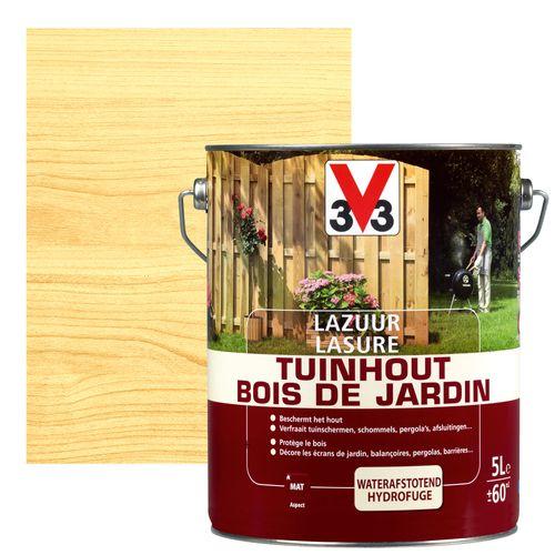 V33 houtbeits Tuinhout transparant mat 5L