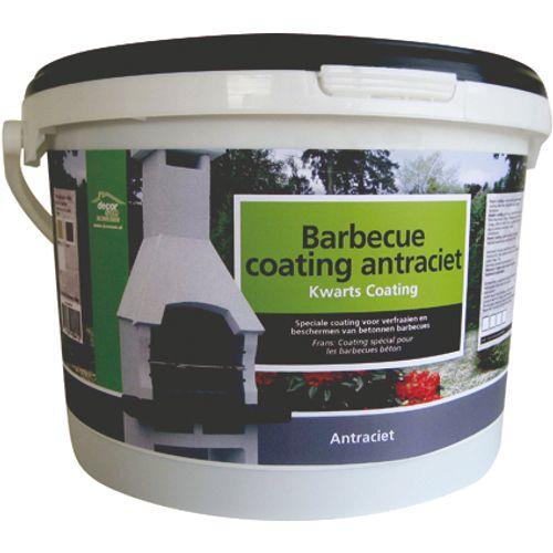 Decor betonnen barbecue coating antraciet 8kg