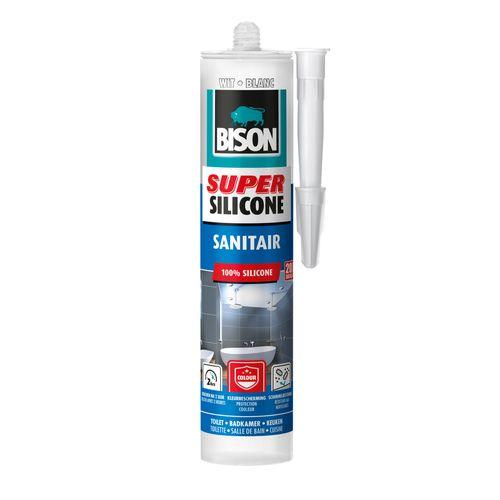 Bison siliconenkit super silicone sanitair wit 300ml
