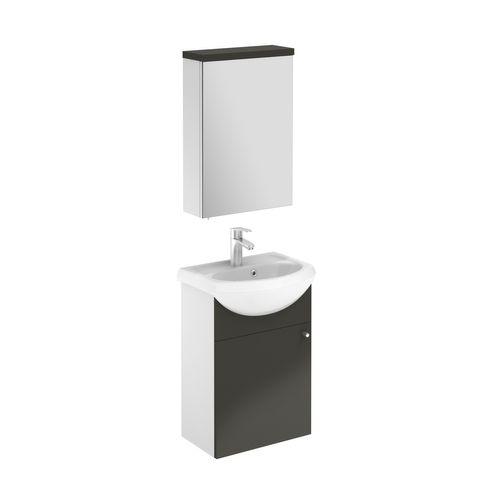 Meuble de salle de bain Royo Infinity gris brillant 45cm