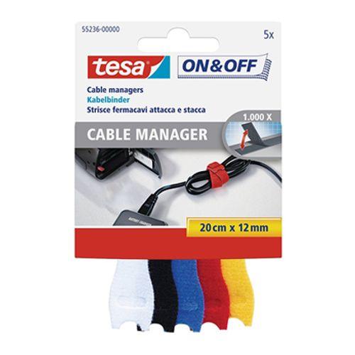 Tesa kabelbinder 'On&Off' small 20x120cm