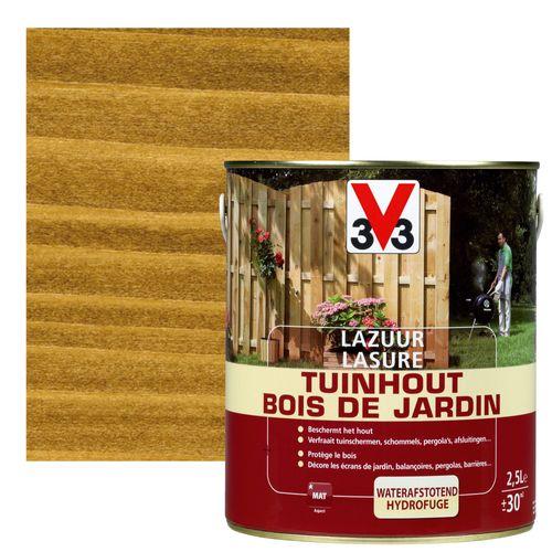 Lasure bois de jardin V33 brun foncé mat 2,5L
