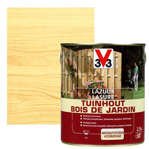 V33 houtbeits Tuinhout transparant mat 2,5L
