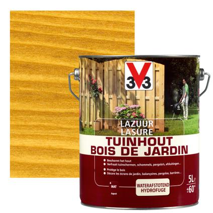 Lasure bois de jardin V33 brun clair mat 5L