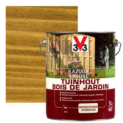 Lasure bois de jardin V33 brun foncé mat 5L