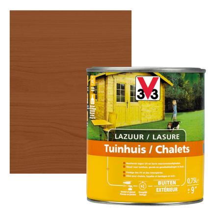 V33 houtbeits Tuinhuis donkere eik zijdeglans 0,75L