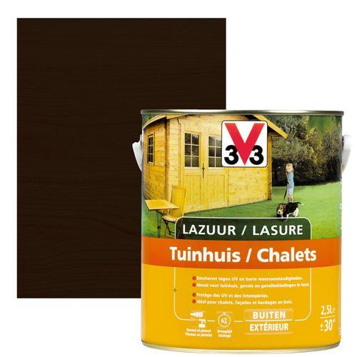 V33 houtbeits / lazuur tuinhuis ebben zijdeglans 2,5l