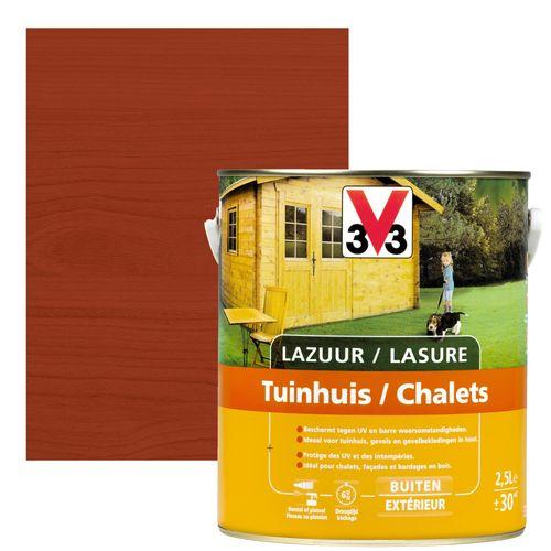 V33 houtbeits / lazuur tuinhuis mahonie zijdeglans 2,5l