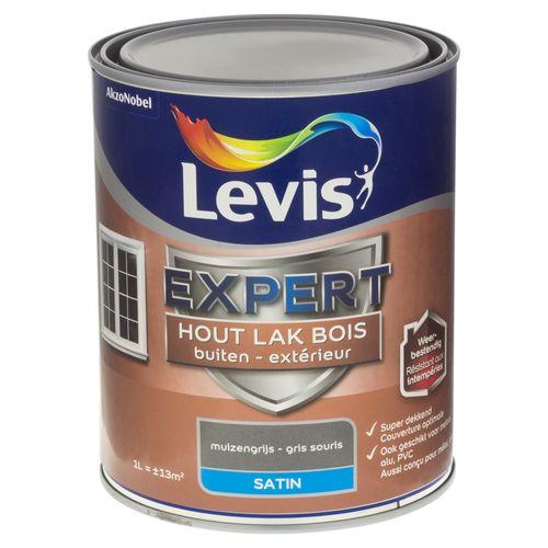Laque Levis Expert gris souris satin 1L