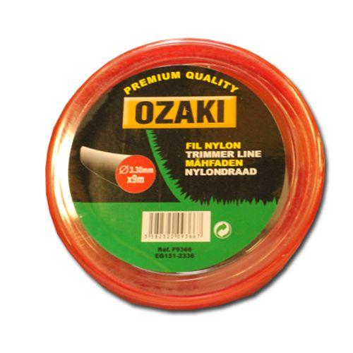 Fil coupe-bordure Ozaki rond 9 m x 3,3 mm