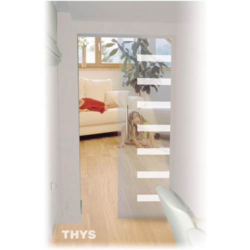 Thys veiligheidsglas schuifdeur 'Thytan Sliding' 1708 215x93cm