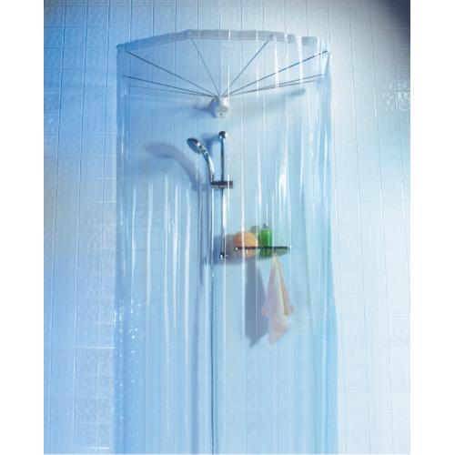 Spirella douchegordijn Ombrella Clear 8 armen