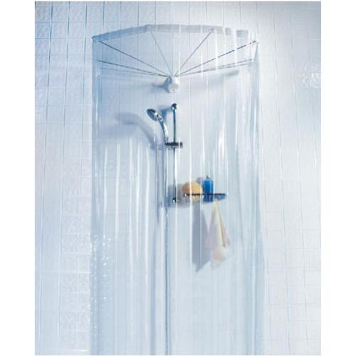 Spirella douchescherm ombrella wit 8 armen