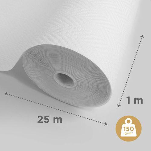 Sencys glasweefselbehang visgraat 25m