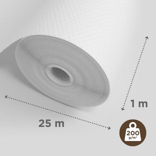 Sencys glasweefselbehang ruit 25m