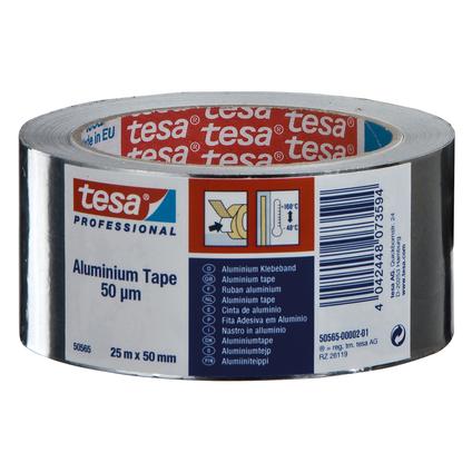 Tesa aluminiumtape zilver 25mx50mm
