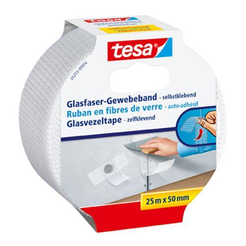 Ruban en fibres de verre Tesa 25 m x 50 mm blanc