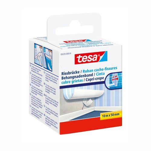 Ruban cache-fisures Tesa blanc 10mx50mm