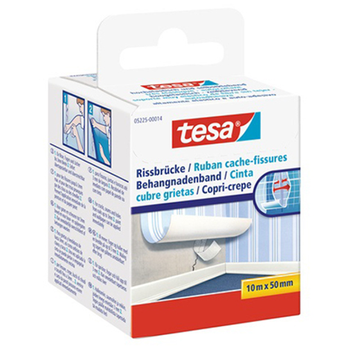Tesa behangnadenband wit 10mx50mm