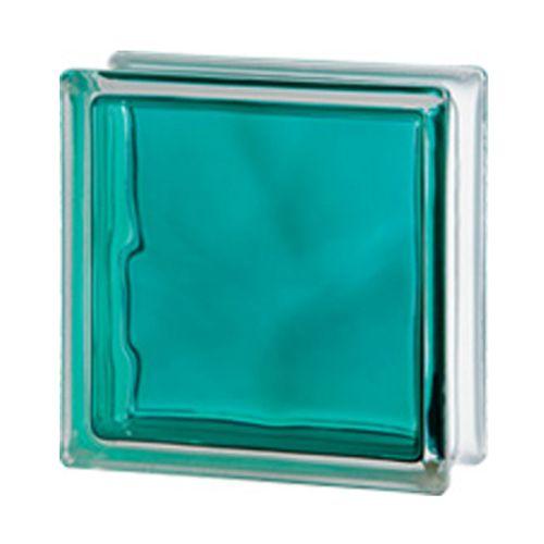 Brique de verre Verhaert 'Brilly' turquoise